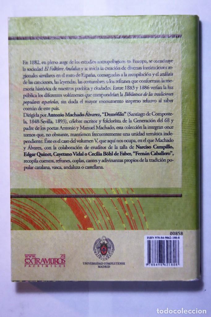 Libros: 11 libros relativos al FOLCLORE ESPAÑOL. Tradiciones españolas. Antonio Machado y Álvarez, Demófilo - Foto 12 - 238872510