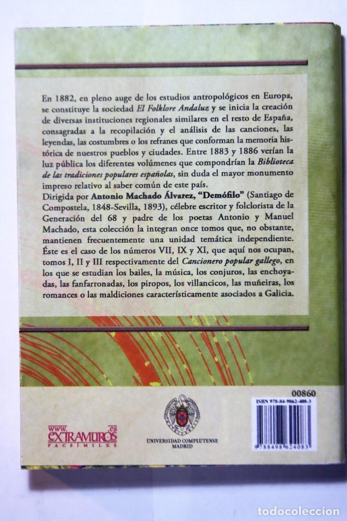 Libros: 11 libros relativos al FOLCLORE ESPAÑOL. Tradiciones españolas. Antonio Machado y Álvarez, Demófilo - Foto 16 - 238872510