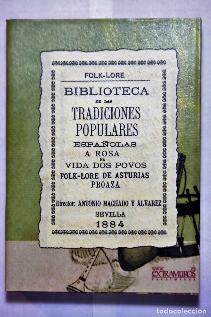 Libros: 11 libros relativos al FOLCLORE ESPAÑOL. Tradiciones españolas. Antonio Machado y Álvarez, Demófilo - Foto 17 - 238872510