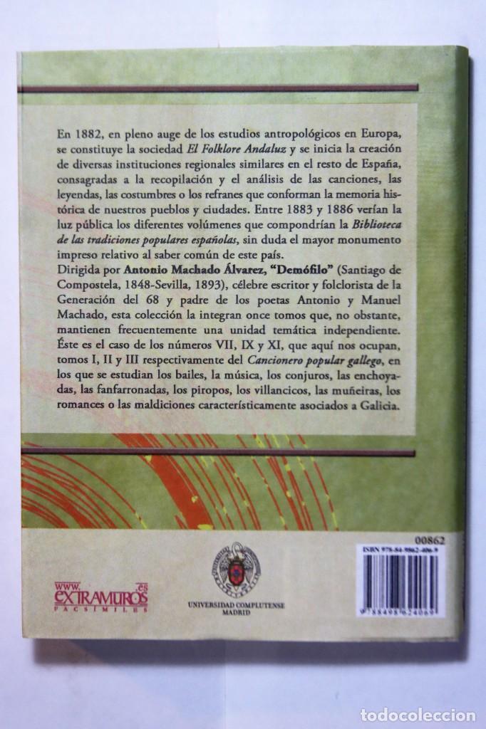 Libros: 11 libros relativos al FOLCLORE ESPAÑOL. Tradiciones españolas. Antonio Machado y Álvarez, Demófilo - Foto 20 - 238872510