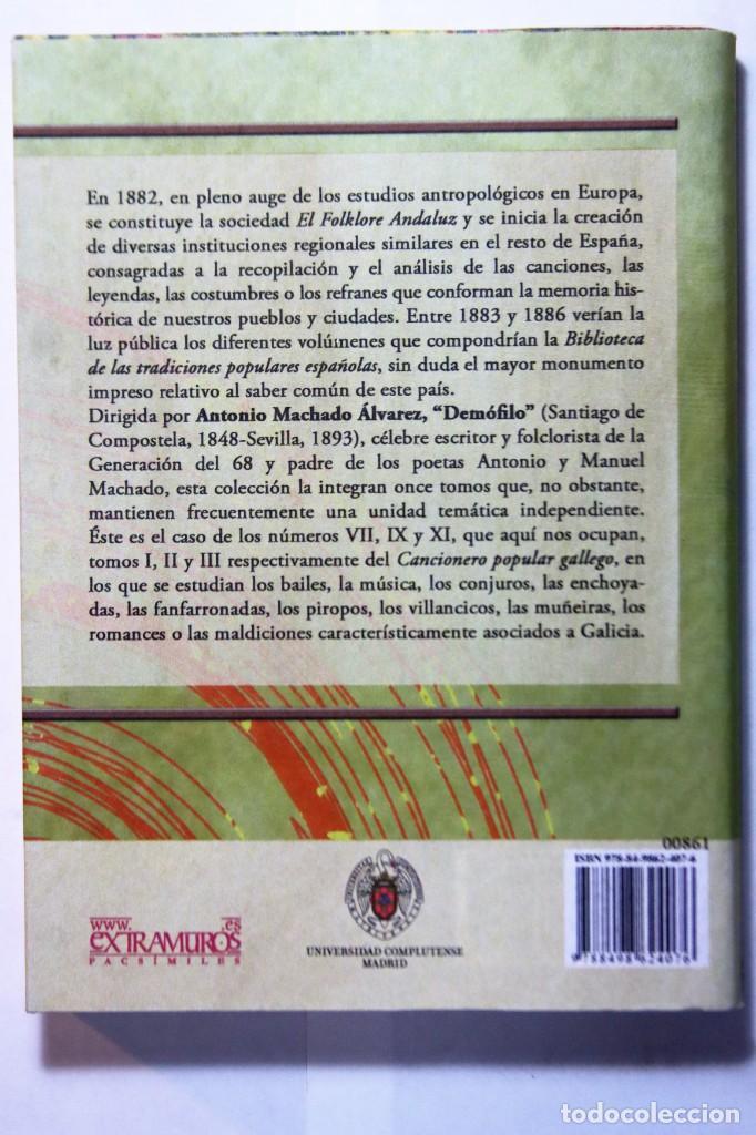 Libros: 11 libros relativos al FOLCLORE ESPAÑOL. Tradiciones españolas. Antonio Machado y Álvarez, Demófilo - Foto 24 - 238872510