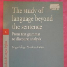 Libros: THE STUDY OF LANGUAGE BEYOND THE SENTENCE. FROM TEXT GRAMMAR TO DISCOURSE ANALYSIS. Lote 240699390