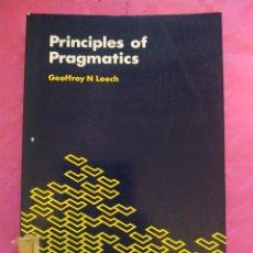 Libros: PRINCIPLES OF PRAGMATICS. Lote 240700375