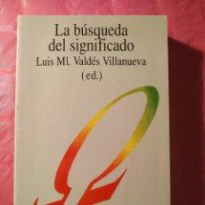 Livros: LA BÚSQUEDA DEL SIGNIFICADO. Lote 240736410
