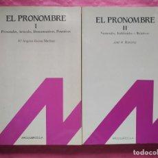 Livros: EL PRONOMBRE. TOMOS I Y II.. Lote 240829605