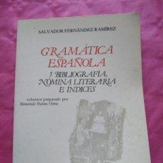 Libros: GRAMÁTICA ESPAÑOLA. VOLUMEN 5: BIBLIOGRAFÍA, NÓMINA LITERARIA E ÍNDICES. Lote 241874135