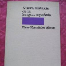 Libros: NUEVA SINTAXIS DE LA LENGUA ESPAÑOLA. Lote 241923165