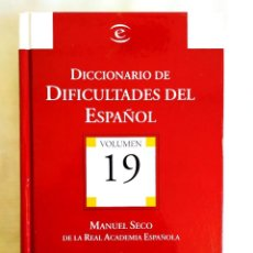 Libros: SECO: DICCIONARIO DIFICULTADES ESPAÑOL. Lote 242153390