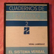 Libros: EL SISTEMA VERBAL DEL ESPAÑOL. Lote 244406155