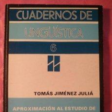 Libros: APROXIMACIÓN AL ESTUDIO DE LAS FUNCIONES INFORMATIVAS. Lote 244408040