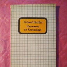Libros: ELEMENTOS DE SEMIOLOGÍA. Lote 244408885