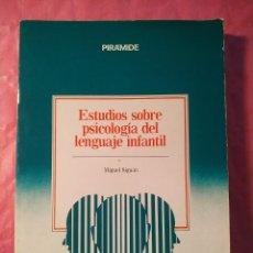 Livres: ESTUDIOS SOBRE PSICOLOGÍA DEL LENGUAJE INFANTIL. Lote 245283675