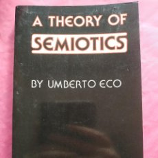 Libros: A THEORY OF SEMIOTICS. Lote 245612490