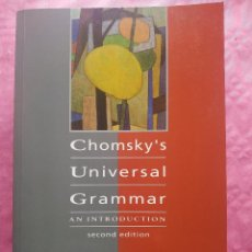 Libros: CHOMSKY'S UNIVERSAL GRAMMAR. AN INTRODUCTION.. Lote 245898310