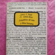 Libri: LINGÜÍSTICA DEL TEXTO Y CRÍTICA LITERARIA. Lote 252990355