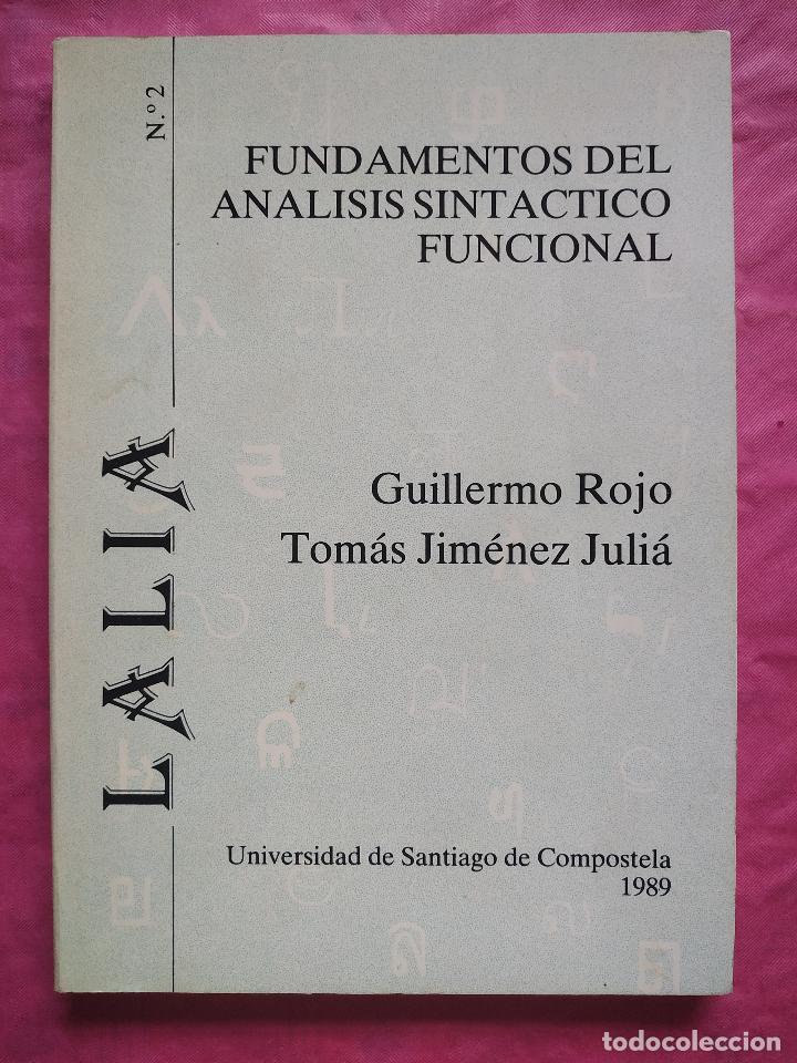 FUNDAMENTOS DEL ANÁLISIS SINTÁCTICO FUNCIONAL (Libros Nuevos - Humanidades - Filología)