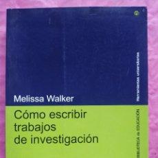 Libros: CÓMO ESCRIBIR TRABAJOS DE INVESTIGACIÓN. Lote 253325810