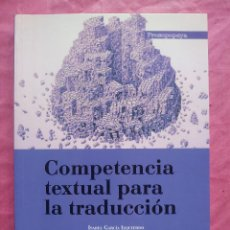 Libros: COMPETENCIA TEXTUAL PARA LA TRADUCCIÓN. Lote 253535740