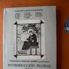 Libros: INTRODUCCIÓN PLURAL A LA GRAMÁTICA HISTÓRICA / FRANCISCO MARCOS MARÍN ( COORDINADOR ). Lote 253911620