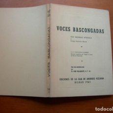 Libros: VOCES BASCONGADAS / FR. PEDRO ANTONIO DE AÑIBARRO. Lote 266439413