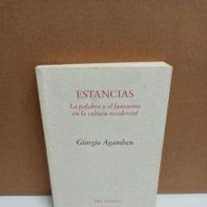 Libros: GIORGIO AGAMBEN - ESTANCIAS - EDITORIAL PRE-TEXTOS. Lote 266759578