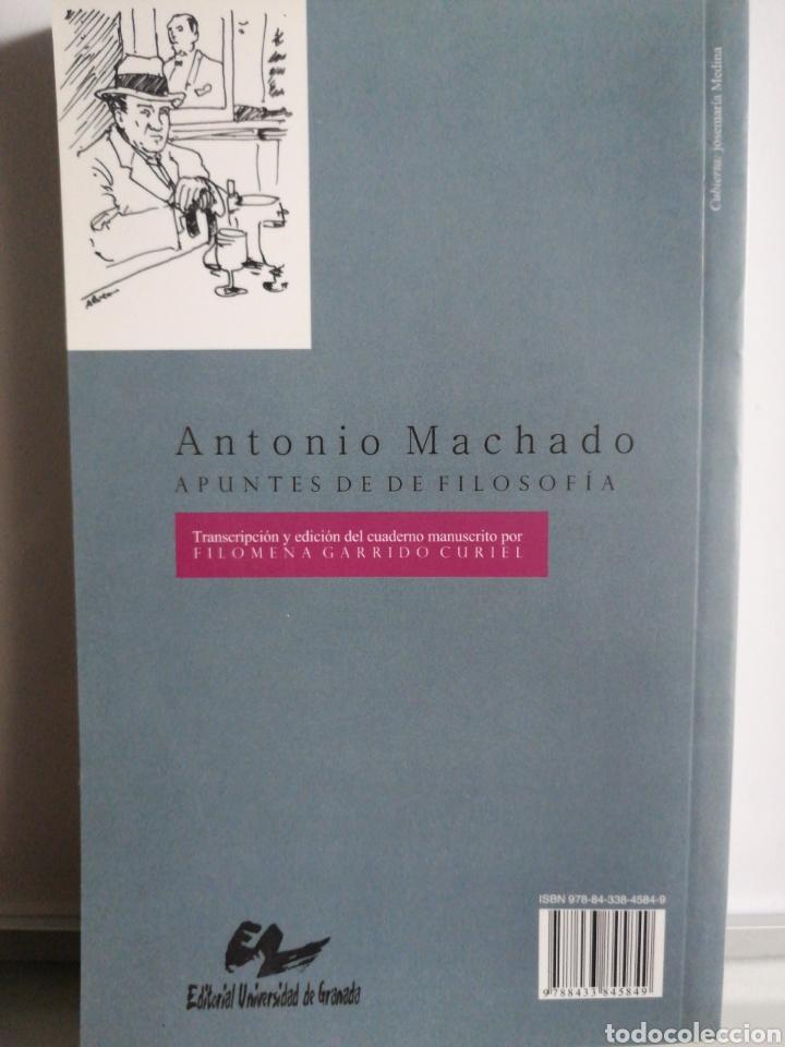 Libros: Antonio Machado. Apuntes de filosofía. Filomena Garrido - Foto 2 - 273630018