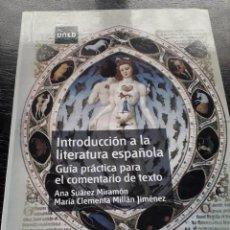 Libros: INTRODUCCIÓN A LA LENGUA ESPAÑOLA: GUÍA PRÁCTICA PARA EL COMENTARIO DE TEXTO. Lote 276025033