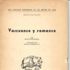 Libros: VASCUENCE Y ROMANCE. Lote 276384213