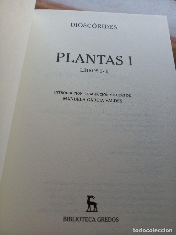 Libros: Dioscorides. Plantas. Editorial Gredos - Foto 2 - 277255138