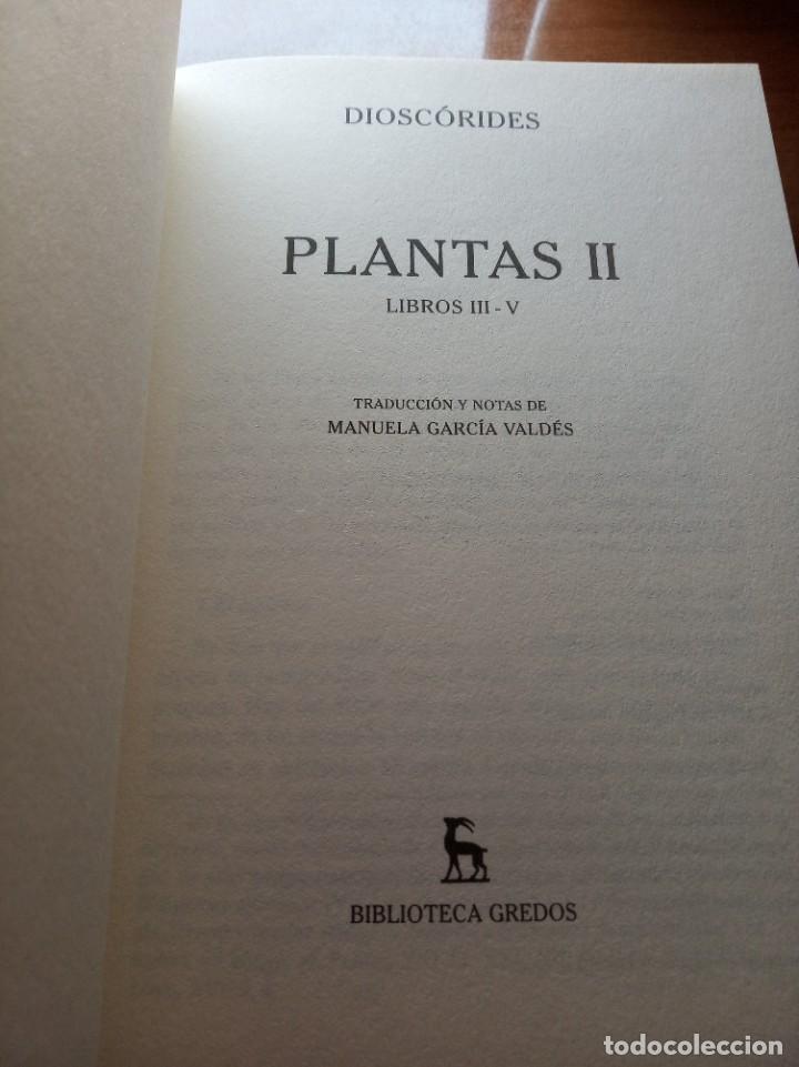 Libros: Dioscorides. Plantas. Editorial Gredos - Foto 3 - 277255138
