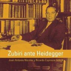 Bücher - Zubiri ante Heidegger - 70894787