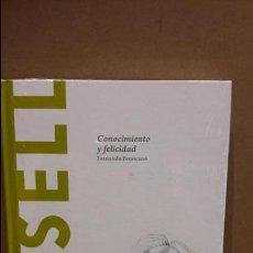 Libros: RUSSELL. CONOCIMIENTO Y FELICIDAD. FERNANDO BRONCANO / DESCUBRIR LA FILOSOFÍA / 35 / NUEVO.. Lote 172787905