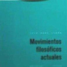 Libros: MOVIMIENTOS FILOSÓFICOS ACTUALES EDITORIAL TROTTA, S.A.. Lote 97969970