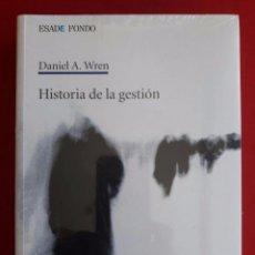 Libros: HISTORIA DE LA GESTION / DANIEL A. WREN / ESADE FONDO / 1ª EDICIÓN 2008 / PRECINTADO. Lote 98051087