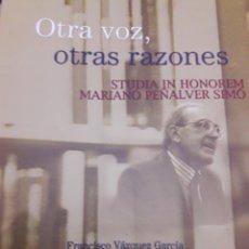 Libros: OTRA VOZ, OTRAS RAZONES. Lote 114385087