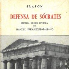 Libros: DEFENSA DE SÓCRATES. Lote 254479625