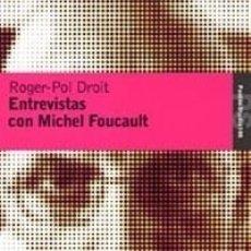 Libros: ENTREVISTAS CON MICHEL FOUCAULT. Lote 121605787