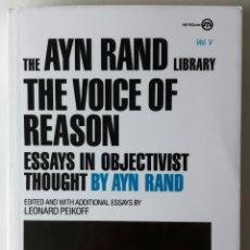 Libros: LIBRO THE VOICE OF REASON - AYN RAND. Lote 127587636