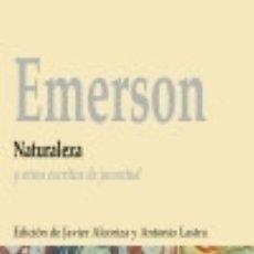 Libros: NATURALEZA Y OTROS ESCRITOS DE JUVENTUD BIBLIOTECA NUEVA. Lote 67910893