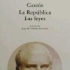 Libros: LA REPÚBLICA Y LAS LEYES. Lote 70772787