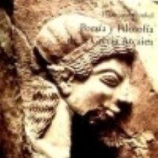 Livros: POESÍA Y FILOSOFÍA DE LA GRECIA ARCAICA. Lote 116078932