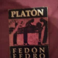 Libros: FEDÓN FEDRO - PLATÓN. Lote 132944866