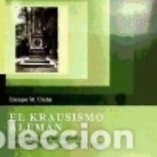 Libros: EL KRAUSISMO ALEMÁN. Lote 133705637
