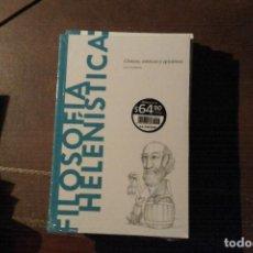 Libros: FILOSOFÍA HELENÍSTICA, CÍNICOS, ESTOICOS Y EPICÚREOS, J.A. CARDONA. Lote 146140537