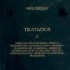 Libros: TRATADOS II. Lote 140792173