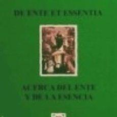 Livros: ACERCA DEL ENTE Y DE LA ESENCIA. Lote 141042650