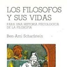 Libros: LOS FILÓSOFOS Y SUS VIDAS. PARA UNA HISTORIA PSICOLÓGICA DE LA FILOSOFÍA. Lote 151420422
