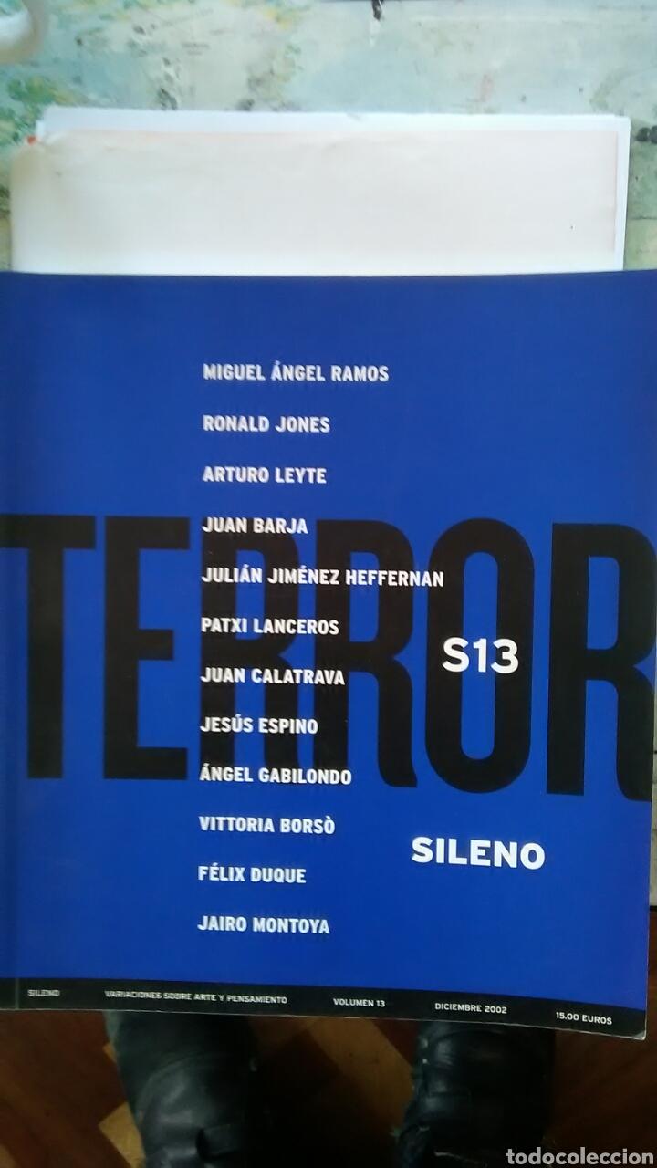 TERROR. REVISTA SILENO. VOLUMEN 13 (Libros Nuevos - Humanidades - Filosofía)