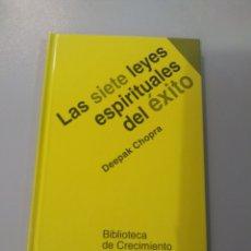 Libros: LAS SIETE LEYES ESPIRITUALES DEL ÉXITO. DEEPAK CHOPRA 9788441400153. Lote 221983240