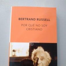Libri: POR QUÉ NO SOY CRISTIANO. BERTRAND RUSSELL. SALAMANDRA 9788435027014. Lote 170253670